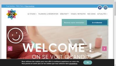Site internet de Make Me Yoga