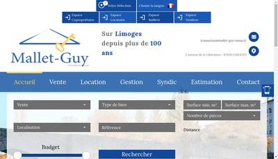 Site internet de Mallet-Guy Immobilier