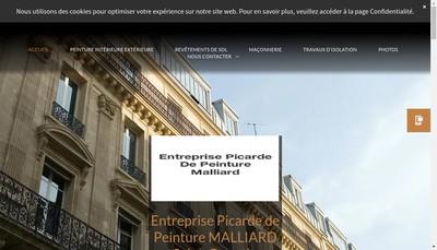 Site internet de Entreprise Picarde de Peinture Malliard