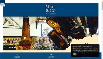 Site internet de Malt & Co
