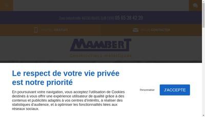 Site internet de Mambert SARL