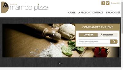 Site internet de Mambo Pizza