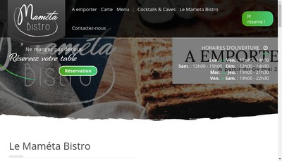 Site internet de Mameta Bistro