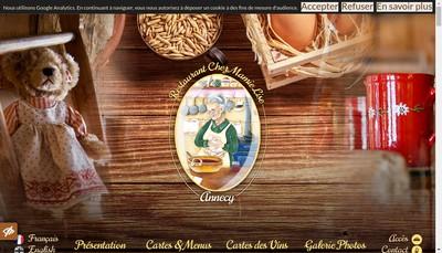 Site internet de Chez Mamie Lise