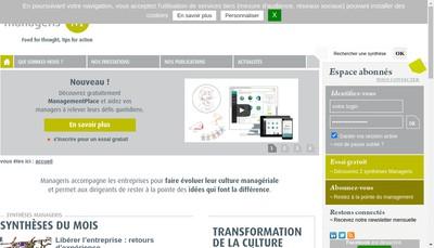 Site internet de Manageris-Mangements Place-Manageris