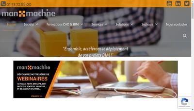 Site internet de Man And Machine
