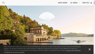 Site internet de Mandarin Oriental France