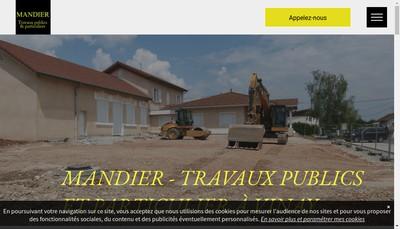 Site internet de SAS Mandier