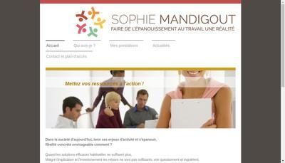 Site internet de Sophie Mandigout