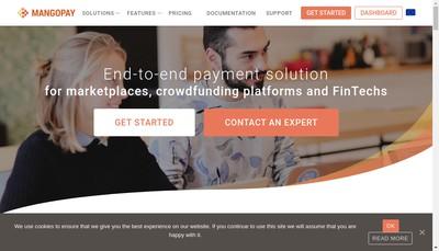 Site internet de Mangopay