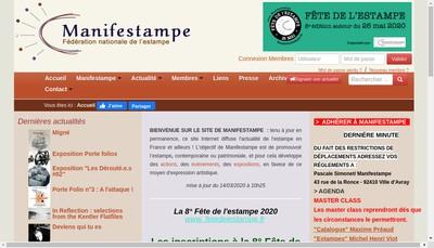 Site internet de Manifestampe Federation Nationale de l'Estampe