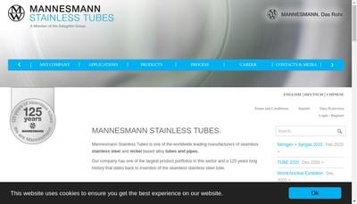 Site internet de Salzgitter Mannesmann Stainless Tubes France