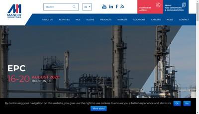Site internet de Manoir Industries