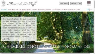 Site internet de Le Manoir de la Fieffe