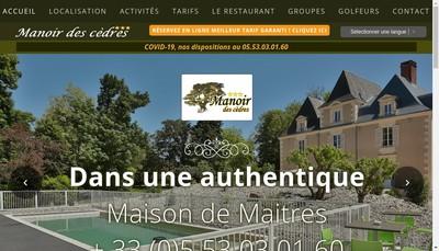 Site internet de Le Manoir des Cedres