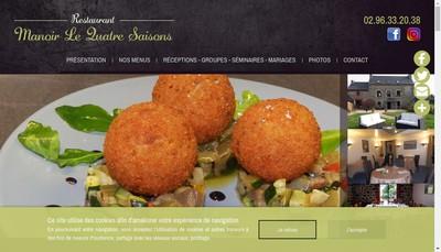 Site internet de Manoir le Quatre Saison