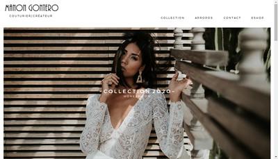 Site internet de Manon Gontero Couturier Createur