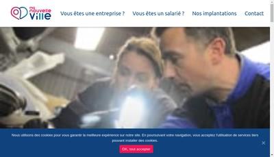 Site internet de Ma Nouvelle Ville