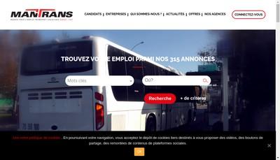 Site internet de Mantrans Valence