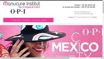 Site internet de Manucure Institut Royan