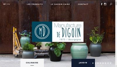 Site internet de SAS Manufacture de Digoin - Gres & Poteries