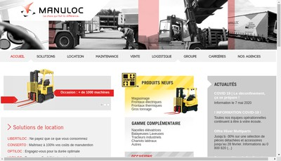 Site internet de Manuloc Normandie