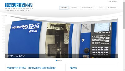 Site internet de Manurhin-K'Mx Technologie