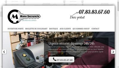 Site internet de Manu Serrurerie Shop