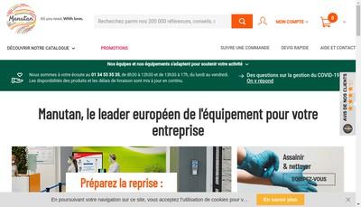 Site internet de Manutan SA- Manutan-Ad