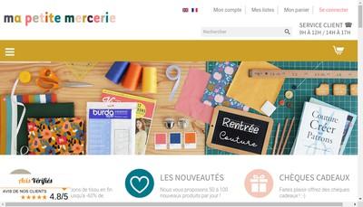 Site internet de Ma Petite Mercerie Pompoms et Merveilles les Merveilleuses Gab et Kaki