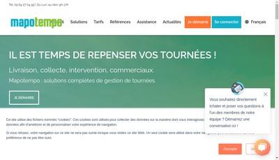 Site internet de Mapotempo
