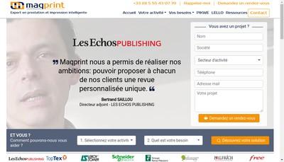 Site internet de Maqprint Groupe