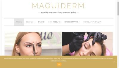Site internet de Maquiderm Institut