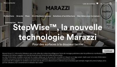 Site internet de Marazzi France Trading