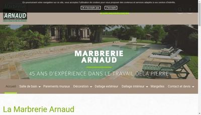 Site internet de Marbrerie Arnaud