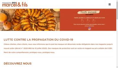 Site internet de Marcel & Fils