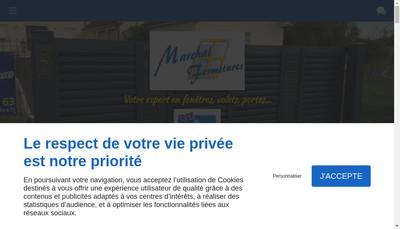Site internet de Marchal Fermetures SARL