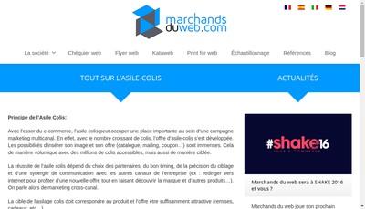 Site internet de Marchands du Web