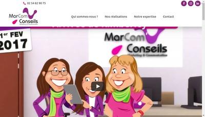 Site internet de Marcom Conseils