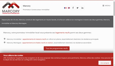 Site internet de Frontalier Immo
