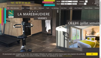 Site internet de La Marebaudiere