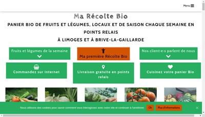 Site internet de Ma Recolte Bio