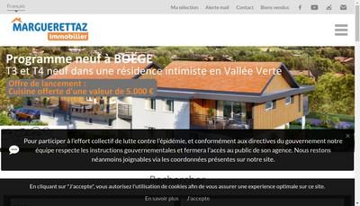 Site internet de Marguerettaz Immobilier