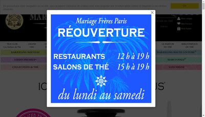 Site internet de French Tea Emporium Mariage Freres