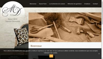 Site internet de Marie David Tapissier Decorateur