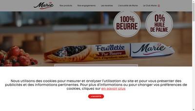 Site internet de Marie Services SARL