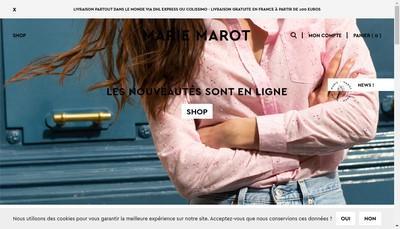 Site internet de Marie Marot
