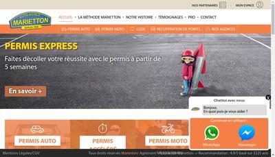 Site internet de Marietton