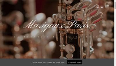 Site internet de Marigaux