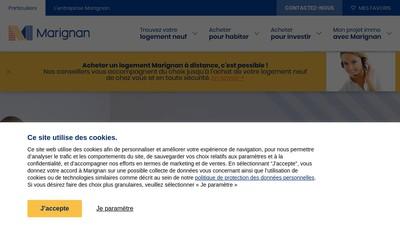 Site internet de Marignan Habitat